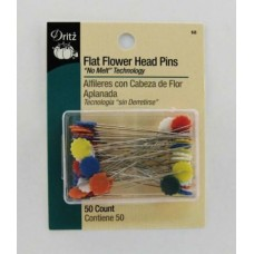 68 - Flat Flower Head Pins