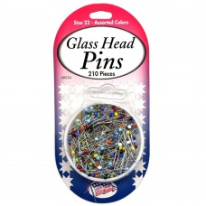48534 - Glasshead Pins - 210 CT