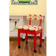 6016 - Red Chair W/Gingerbread