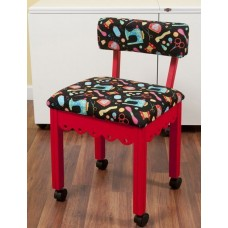 7016B Red Chair Black Scallop