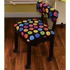 8013 Black Chair Black Buttons