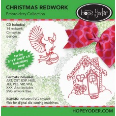 DHY-111 - Christmas Redwork